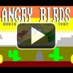 Si Angry Birds fuera un juego de los 80, sería así