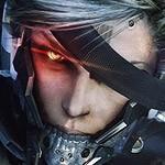 Raiden <em>lo parte</em> en la portada americana de Metal Gear Rising