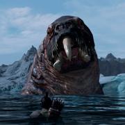 Gigantismo animal en un mod brutal para Skyrim