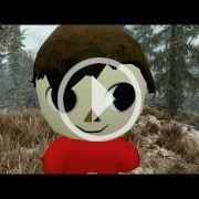 El Villager de Animal Crossing masacra Skyrim