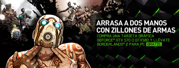 Borderlands 2, de regalillo con las GeForce GTX 570 y 580