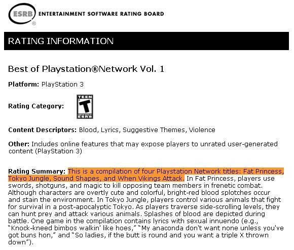 Parece que existe algo llamado Best of Playstation Network Vol. 1