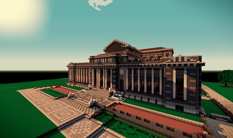 how to build a village libary in minecraft