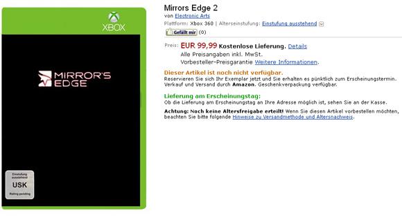 A Amazon se le escapa Mirror's Edge 2