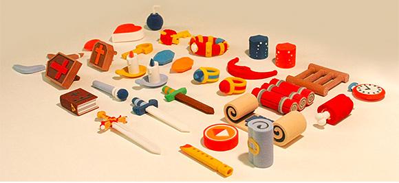Atenci n a estos objetos de the legend of zelda hechos con for Objetos hechos con marmol