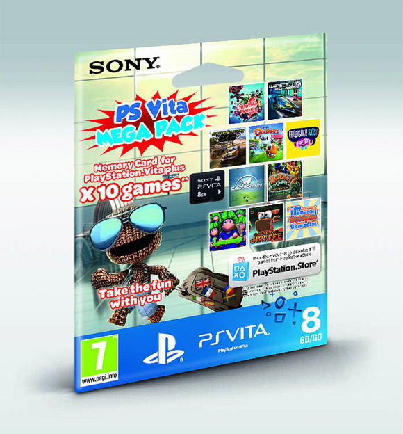 PS Vita Mega Pack: 10 juegos y tarjeta de 8GB por 40 euros