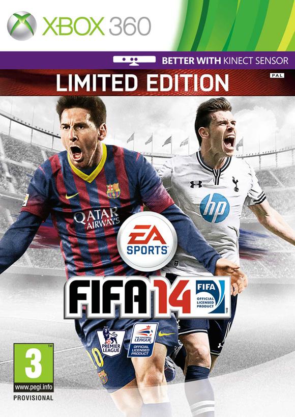 Gareth Bale acompaña a Messi en la portada británica de FIFA 14