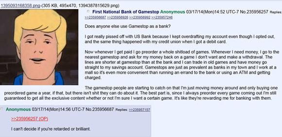 El tío que usa GameStop como un cajero Gamestop-bank