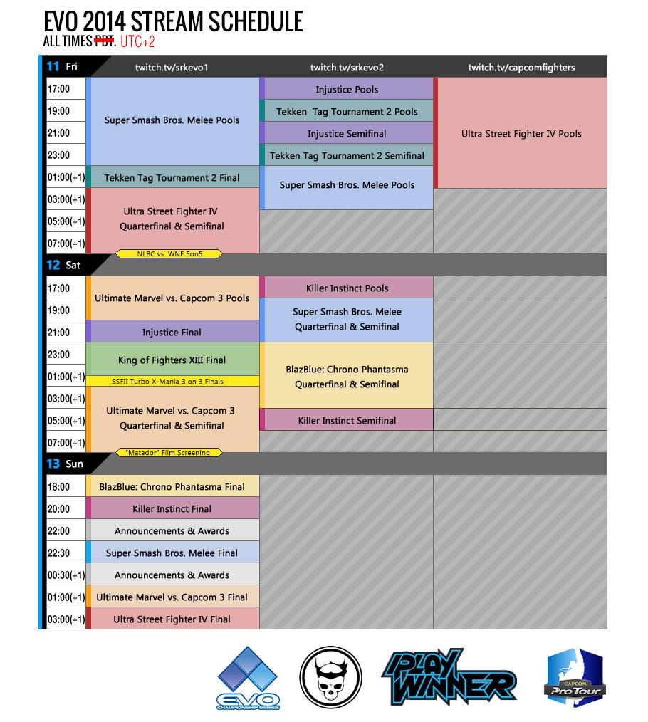 EVO 2014: Estos son los horarios