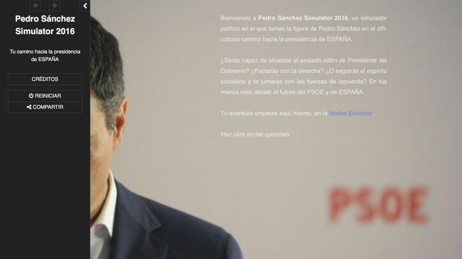 Renovación democrática y compi yoguis: Pedro Sánchez Simulator 2016