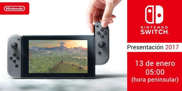 La presentación de Nintendo Switch se emitirá el día 13 a las 5:00