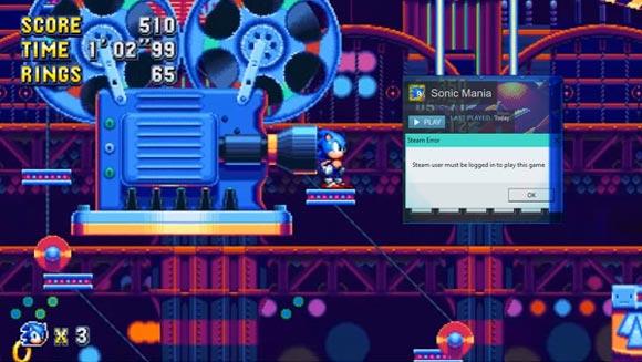 Sonic Mania sorprende en PC con un DRM que impide jugar sin estar conectado a internet