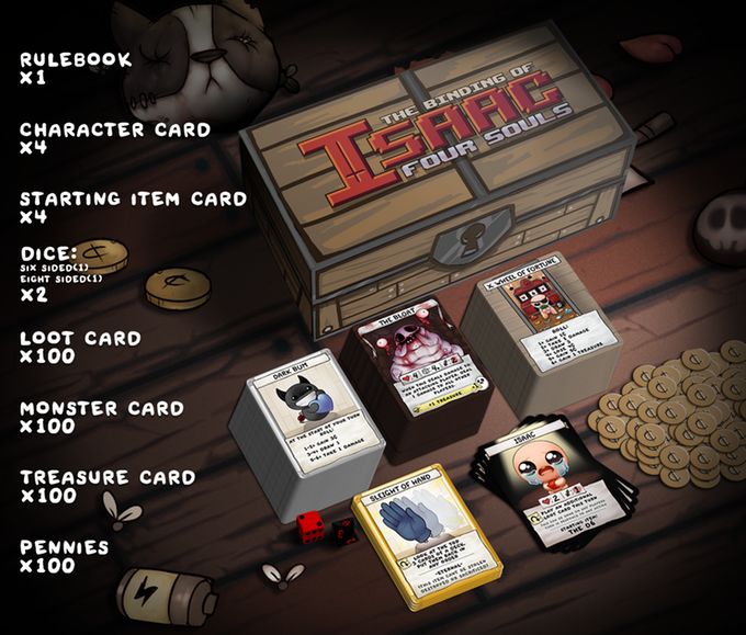 El juego de cartas de The Binding of Isaac rebasa el millón de dólares en Kickstarter