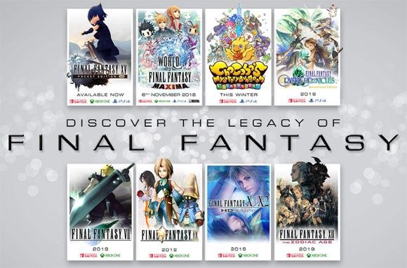 Los Final Fantasy VII, IX, X, X-2 y XII llegarán a Switch y Xbox One