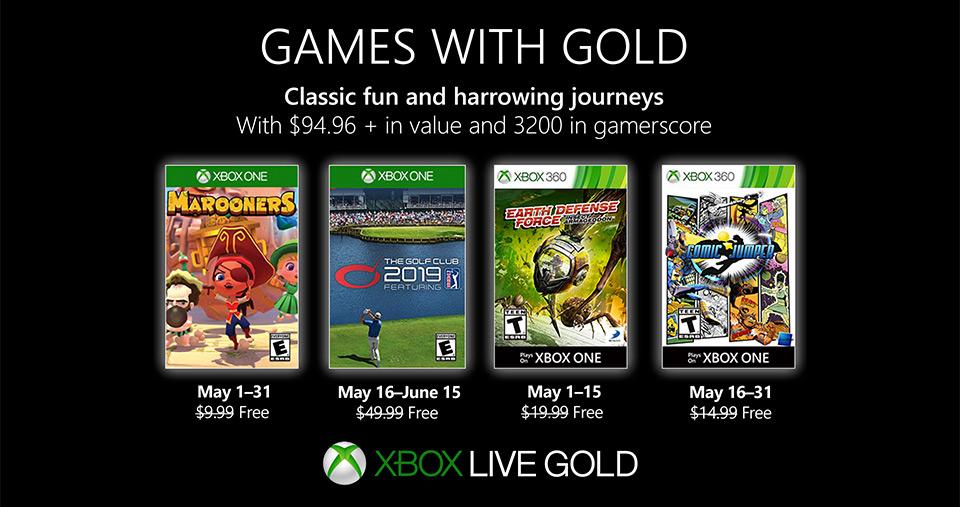 Los Juegos con Gold de mayo quieren que te suscribas al Game Pass