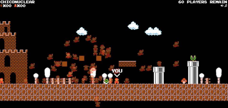 El infierno es este battle royale de Super Mario Bros.