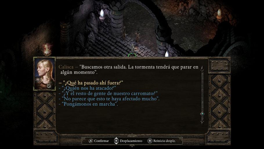 Luces y sombras de Pillars of Eternity para Switch