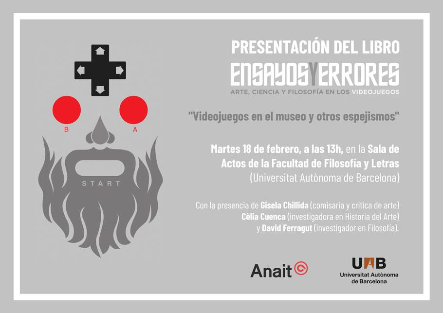 Presentamos Ensayos y errores en la Universidad Autónoma de Barcelona el próximos martes