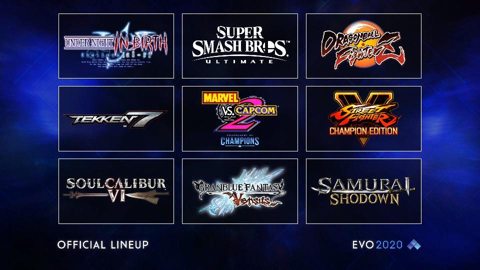 Estos son los juegos del EVO 2020