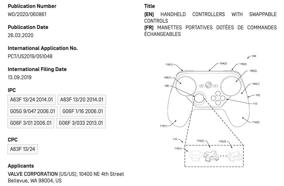 Según una patente, el Steam Controller 2 tendrá trackpads intercambiables