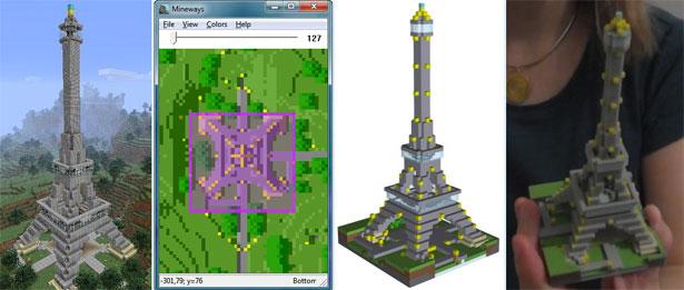 R Plicas En Pl Stico De Tus Construcciones En Minecraft